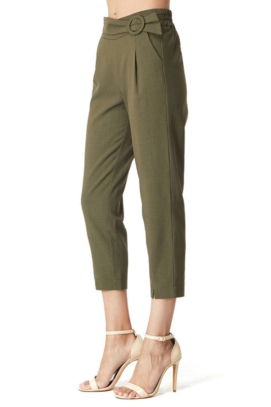 Belted High Waist Pant