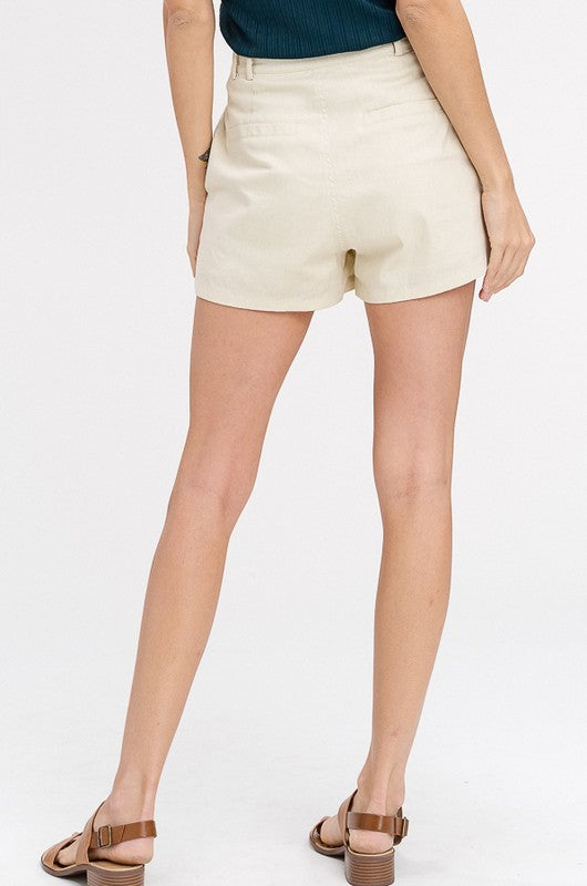 High Waist Button Shorts