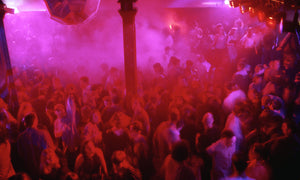 The Hacienda Manchester - Ravers on the pink dance floor