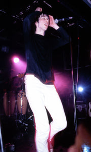 Bobby Gillespie Primal Scream during the Screamadelica tour on stage in The Hacienda Manchester