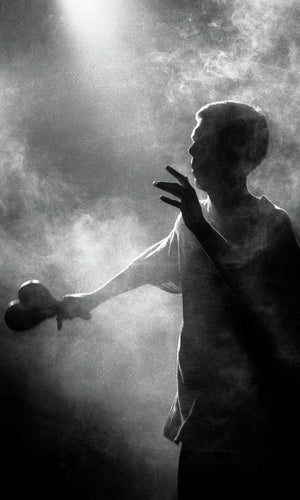 Bez in smoke - The Happy Mondays - live at the Free Trade Hall Manchester