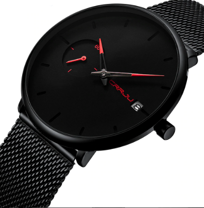 Men's quartz watch made from alloy and stainless steel - Corkiwatch