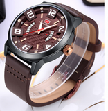 Men's Quartz Watches Stylish leather strap watch Model MF 0149G - corkiwatch