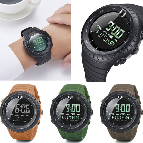 Digital Watches Strap Plastic Style Simple Model Number 78 - corkiwatch