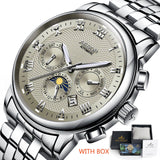 Men's Machanical Watches  Style Luxury Made Stainless Steel - corkiwatch
