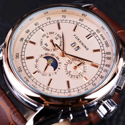 Mechanical Watches Strap  Leather Model Number GMT 912-2 - corkiwatch