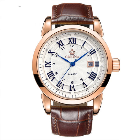 Men's Quartz Watches  made from Stainless Steel Analog Style   Leather Watches - corkiwatch
