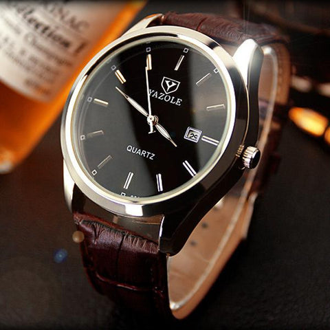 Men's luxury quartz watch made from genuine leather - Corkiwatch