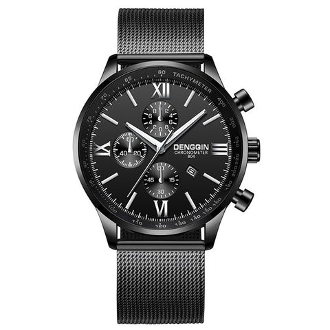 Men's quartz watch made of simple stainless steel style - Corkiwatch