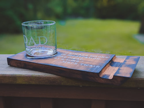 Whiskey And Cigar Coaster