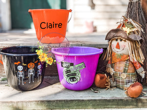 Personalized Trick-or-Treat Halloween Buckets