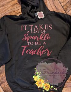 Teachers Sparkle Sweatshirt
