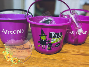 Personalized Halloween Bucket Bundle
