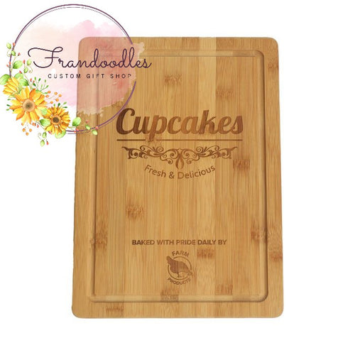 Custom Engraved Cutting Board with Juice Groove