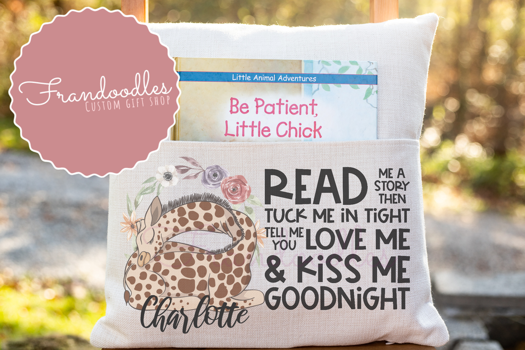 Book Pocket Pillow