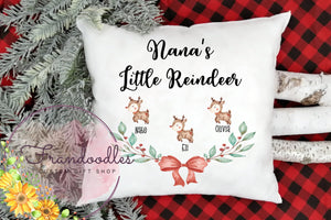 Grandma's Little Reindeer Pillow