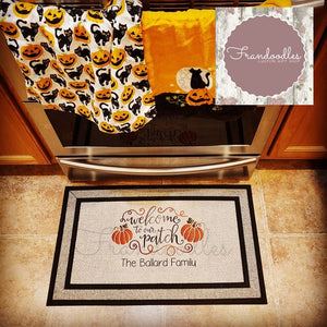 Pumpkin Patch Family Doormat