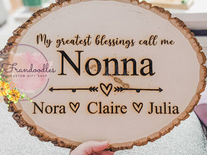 Greatest Blessings Engraved Wood Plaque