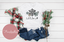 Load image into Gallery viewer, Let It Snow Y'all Snowflake Women's Tee