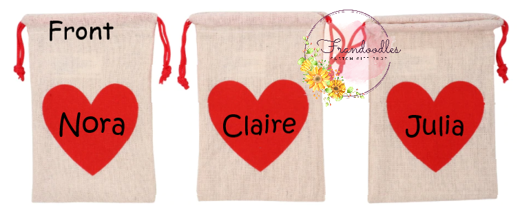 Personalized Valentine's Tic Tac Toe Bag