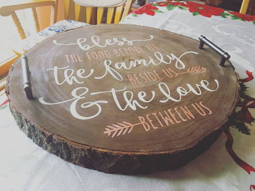 Wooden Slice Serving Tray