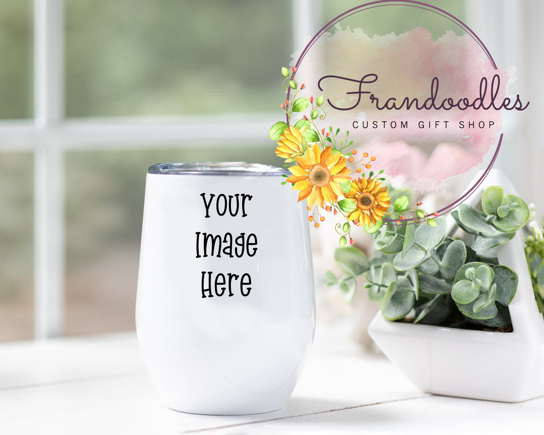 Custom Image Wine Tumbler