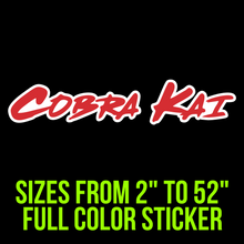Load image into Gallery viewer, Cobra Kai Full Color Vinyl Decal