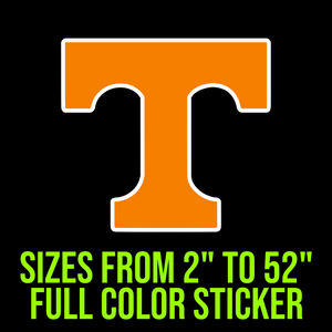 Tennessee Volunteers Full Color Vinyl Decal
