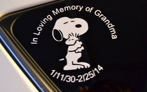 Custom Vinyl  In Memory of  - J and J Design Studio