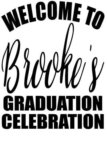 Custom Vinyl Graduation Sign Large  - J and J Design Studio