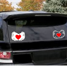 Load image into Gallery viewer, Mickey Mouse Hands Holding a Heart Vinyl Decal