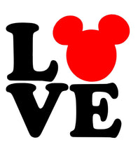 Load image into Gallery viewer, Mickey Mouse Love Vinyl Decal