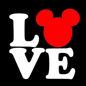 Mickey Mouse Love Vinyl Decal