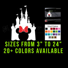 Load image into Gallery viewer, Minnie Mouse Disney Castle Vinyl Decal