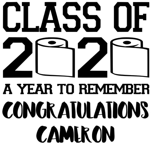 Custom Vinyl Graduation Decal | Class of 2020 | Class of Covid 19 | Graduation Sign