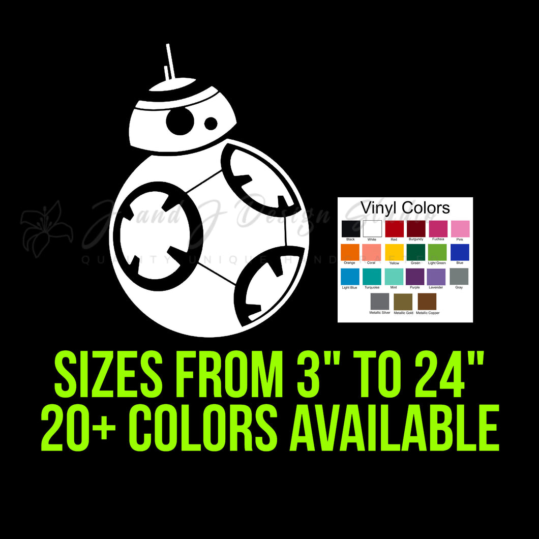 BB8 Vinyl Decal