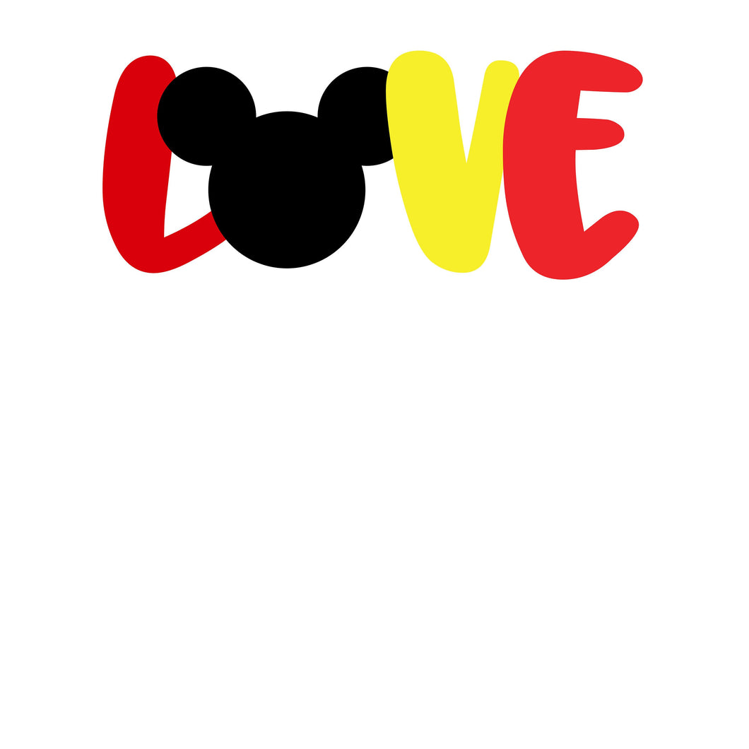 Love Mickey Mouse Vinyl Decal
