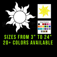 Load image into Gallery viewer, Rapunzel Tangled Sun Vinyl Decal