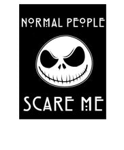 Load image into Gallery viewer, Jack Skellington Normal People Scare Me Vinyl Decal