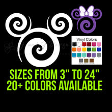 Load image into Gallery viewer, Mickey or Minnie Mouse Swirl Vinyl Decal