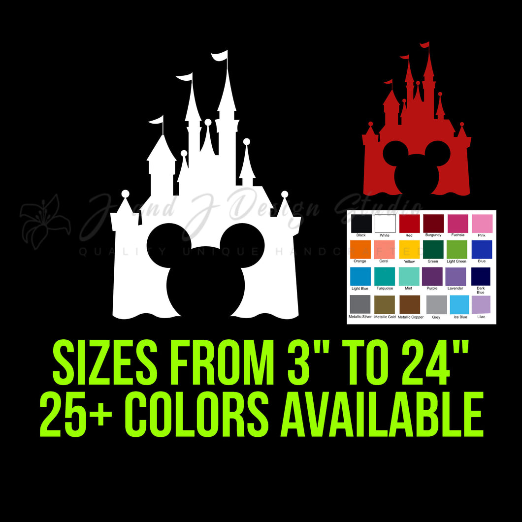 Mickey Mouse Disney Castle Vinyl Decal
