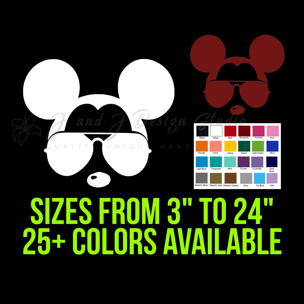 Mickey Mouse in Sunglasses Vinyl Decal