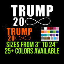 Load image into Gallery viewer, Trump 20 infinity Vinyl Decal