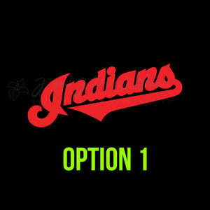 Cleveland Indians Vinyl Decal