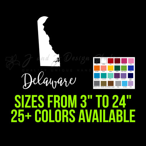 State of Delaware Vinyl Decal