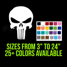 Load image into Gallery viewer, Punisher Vinyl Decal