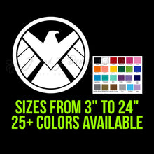 Load image into Gallery viewer, S.H.I.E.L.D Logo Vinyl Decal