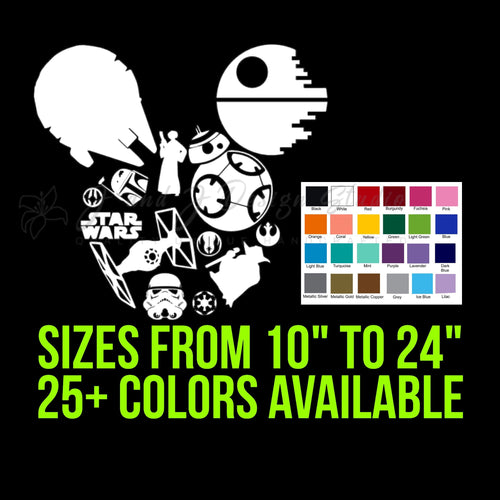 Mickey Mouse Star Wars Vinyl Decal