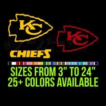 Load image into Gallery viewer, Kansas City Chiefs Vinyl Decal