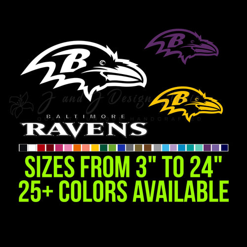 Baltimore Ravens Vinyl Decal
